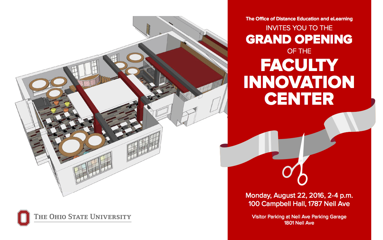 Faculty Innovation Center grand opening invitation