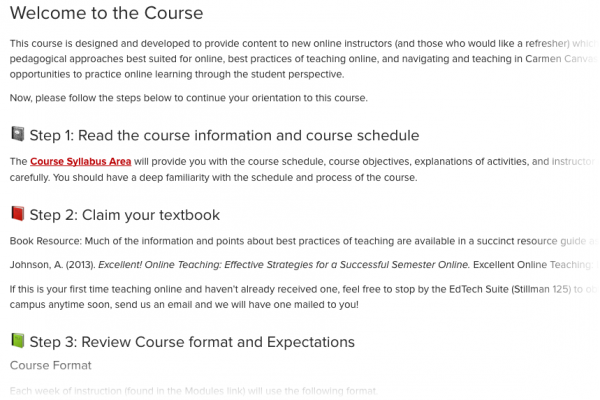 Resources Module Provides Support For Online Learners Office Of