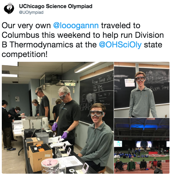 Logan Leak at Ohio Science Olympiad State Tournament