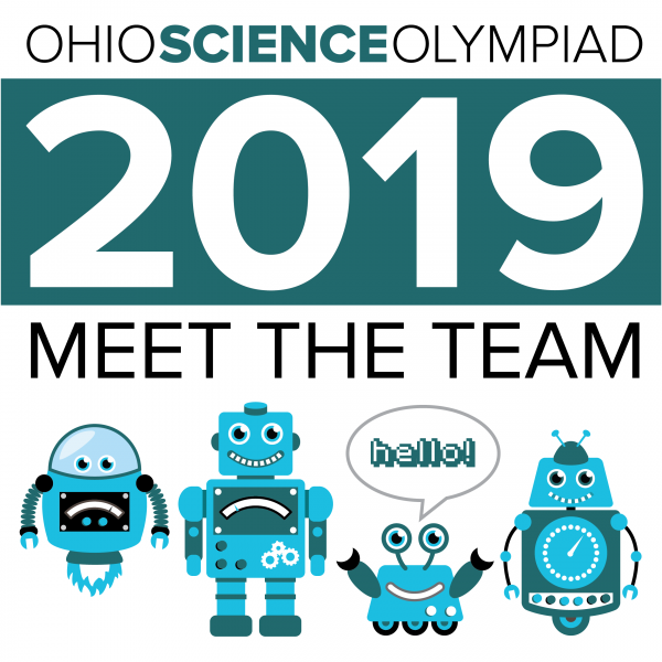 Meet the team 2019, featuring a group of robots