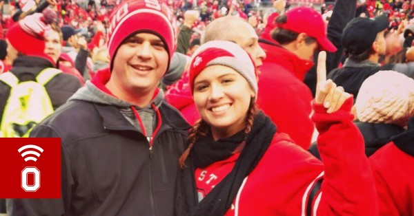 Brianna Hyatt at an Ohio State football game.