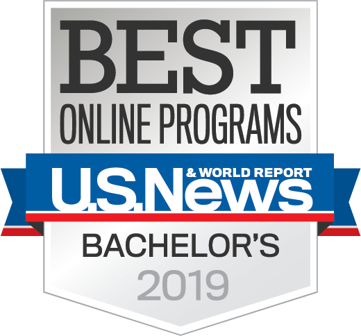 U.S. News Best Online Programs badge
