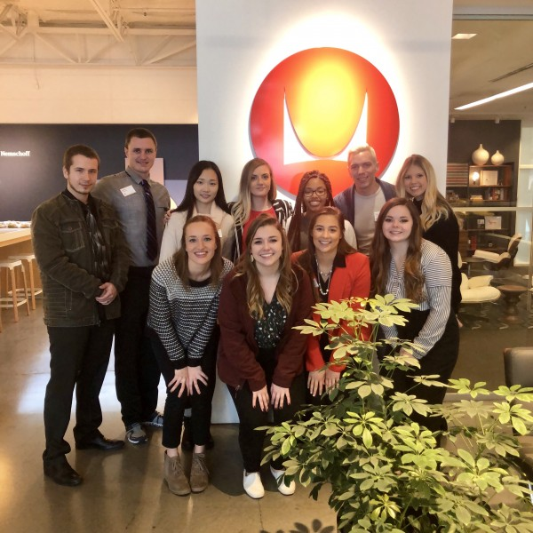 Students pictured at Herman Miller