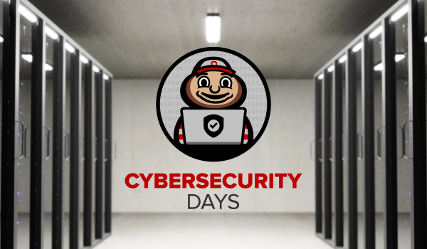 Cybersecurity Days logo in front of servers