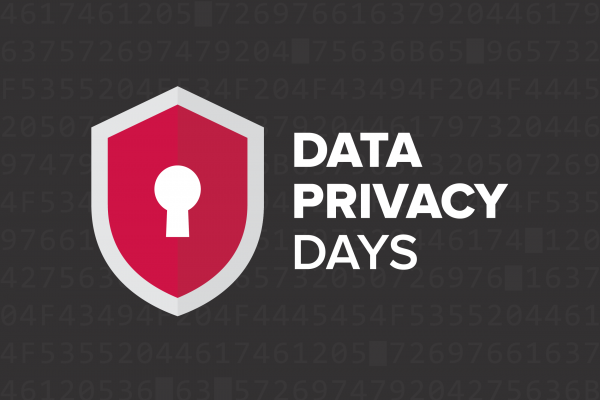 Data Privacy Day shield icon with keyhole