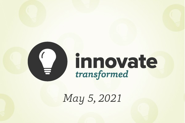 lightbulb logo with theme (transformed) and date (May 5, 2021)