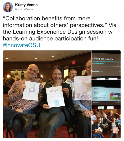 Kristy Venne tweet about Innovate 2018