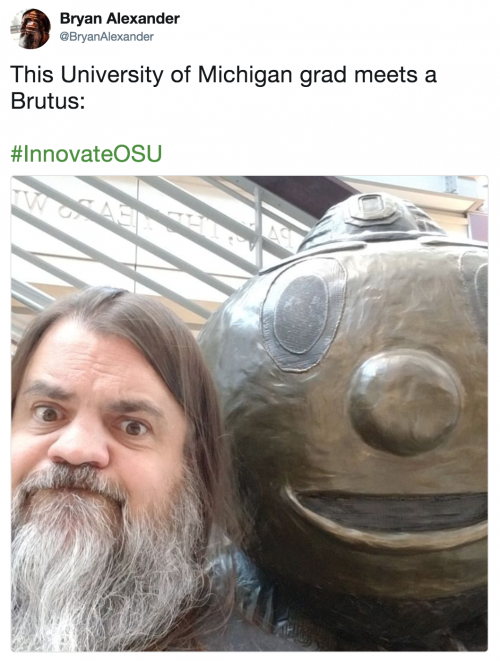 Bryan Alexander tweet about Innovate 2018