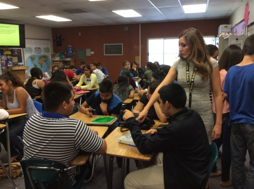 Coachella Valley High School classroom