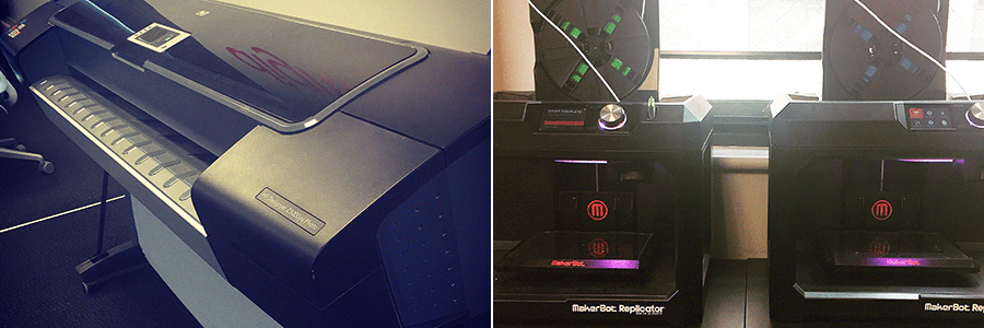 Plotter printer and 3D printers